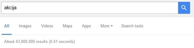 Akcija ključne riječi Google