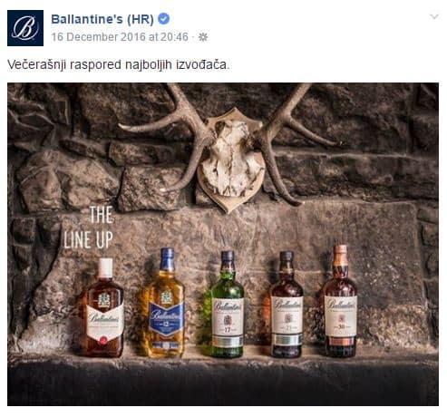 Ballantine's Facebook stranica