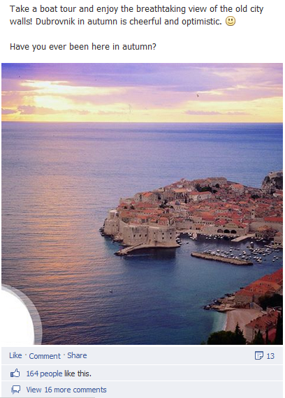 Dubrovnik on Facebook