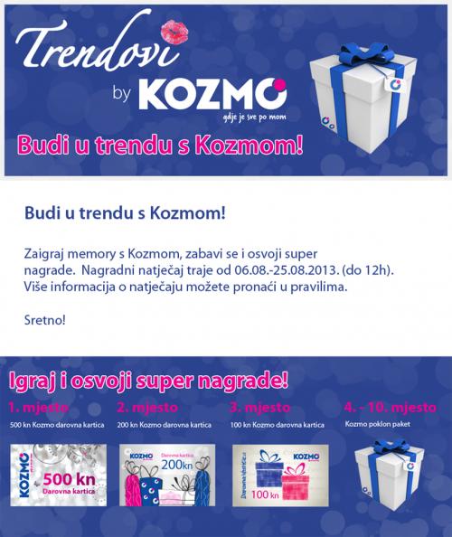 Kozmo SocialMemory 500x594 Kako promovirati prodajni asortiman pomoću Facebook igre – case study Kozmo