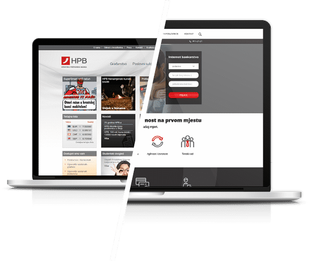 akcija case study hpb Hrvatska poštanska banka   redizajn web stranice   koncept