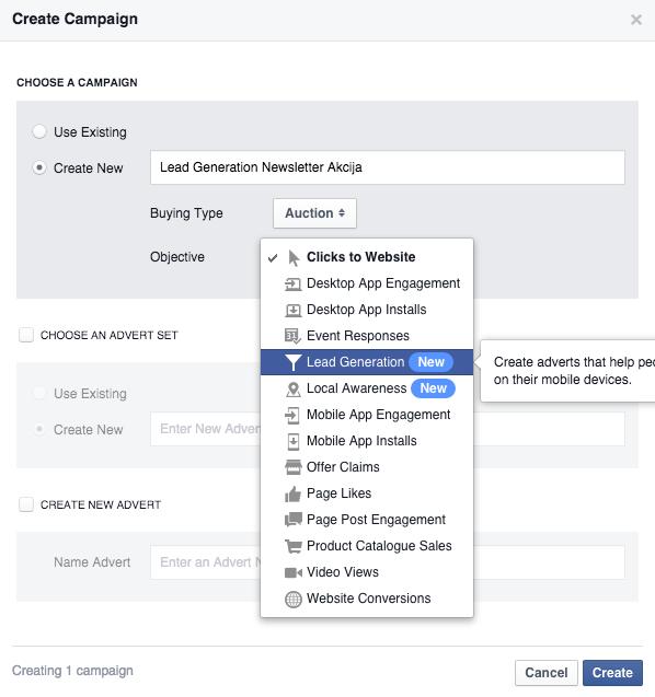facebook lead ads 1 Vodič kroz Facebook Lead Ads   nova funkcionalost unutar Facebook oglasa