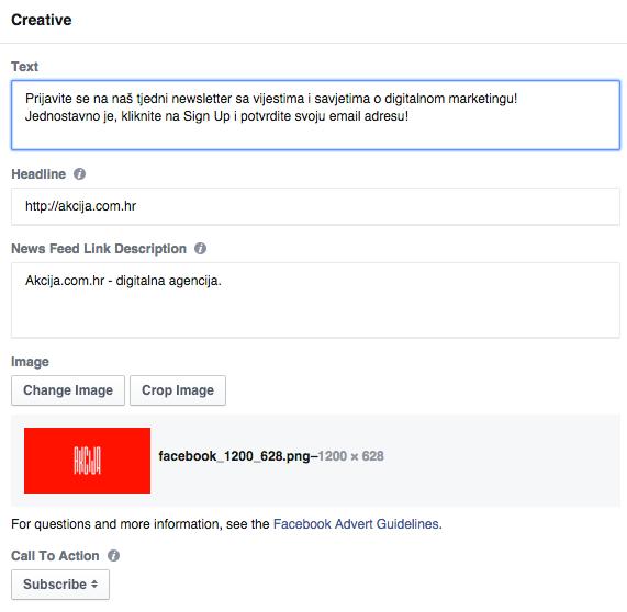 facebook lead ads 4 Vodič kroz Facebook Lead Ads   nova funkcionalost unutar Facebook oglasa