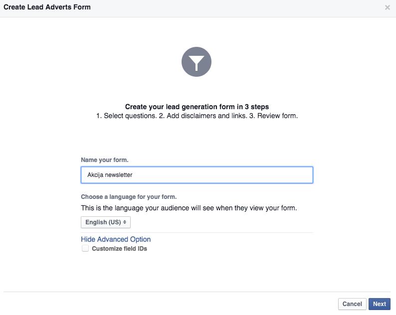 facebook lead ads 5 Vodič kroz Facebook Lead Ads   nova funkcionalost unutar Facebook oglasa
