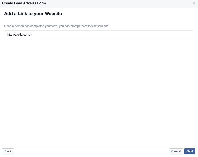 facebook lead ads 9 Vodič kroz Facebook Lead Ads   nova funkcionalost unutar Facebook oglasa
