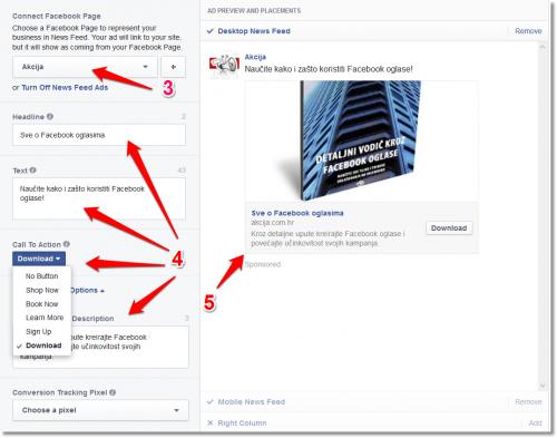 facebook oglasavanje1 500x393 Zašto koristiti Call to Action button za Facebook oglašavanje?