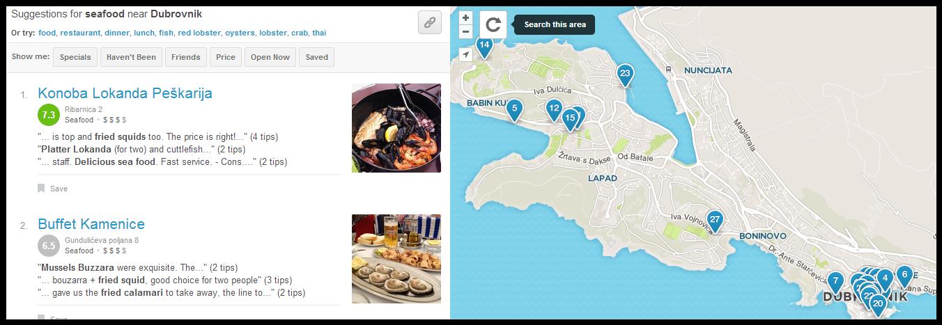 Koristite Foursquare u turizmu.