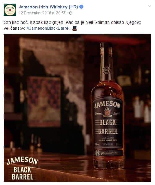 Jameson Facebook stranica