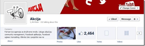 Akcija Facebook